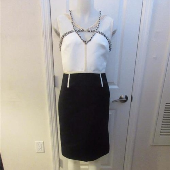 Black and Ivory Bloomingdale's Dress